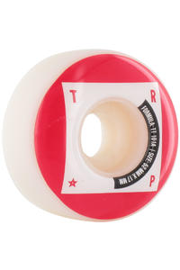 Trap Skateboards Tech Dogs 52mm Rollen 4er Pack  (white red)