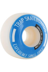 Trap Skateboards Pool Dogs 55mm Rollen 4er Pack  (white blue)