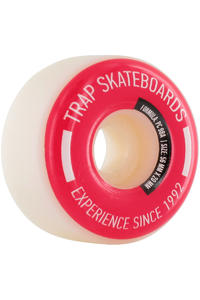 Trap Skateboards Pool Dogs 56mm Wheel 4er Pack  (white red)