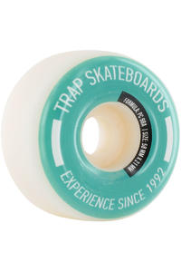 Trap Skateboards Pool Dogs 58mm Wheel 4er Pack  (white turquoise)