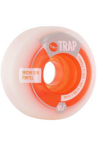 Trap Skateboards von Fintel Purebred Dogs 53mm Rollen 4er Pack  (white orange)