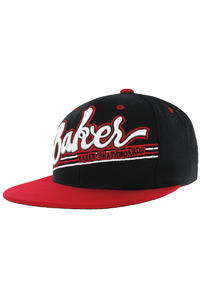Baker Game Time Snapback Cap (black red)