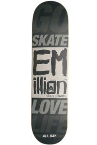"EMillion Go Skate Love Life 7.75"" Deck (black)"