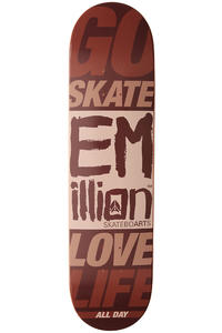 "EMillion Go Skate Love Life 7.875"" Deck (brown)"