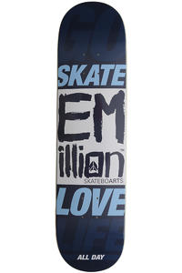 "EMillion Go Skate Love Life 8"" Deck (blue)"