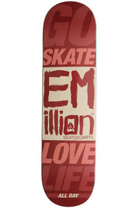 "EMillion Go Skate Love Life 8.125"" Deck (red)"