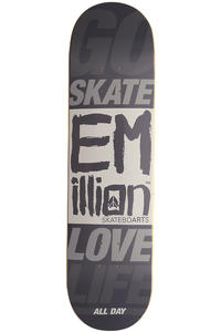 "EMillion Go Skate Love Life 8.25"" Deck (grey)"