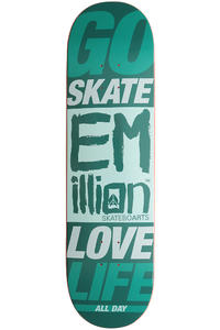 EMillion Go Skate Love Life 8.5&quot; Deck (petrol)