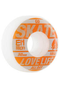 EMillion Go Skate 50mm Wheel 4er Pack  (orange white)