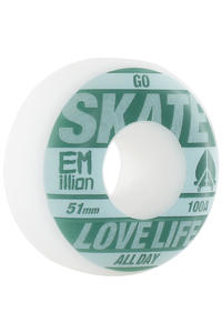 EMillion Go Skate 51mm Wheel 4er Pack  (petrol white)