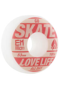 EMillion Go Skate 53mm Wheel 4er Pack  (red white)