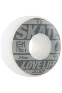 EMillion Go Skate 54mm Wheel 4er Pack  (grey white)