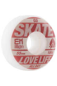EMillion Go Skate 55mm Rollen 4er Pack  (brown white)