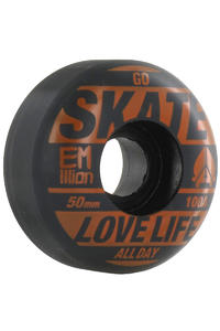 EMillion Go Skate 50mm Wheel 4er Pack  (orange black)