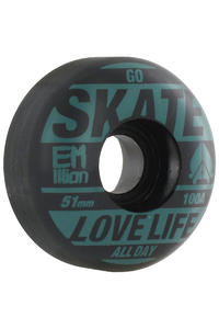 EMillion Go Skate 51mm Wheel 4er Pack  (petrol black)