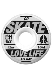EMillion Go Skate 52mm Wheel 4er Pack  (white black)