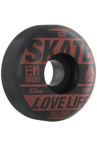 EMillion Go Skate 53mm Rollen 4er Pack  (red black)