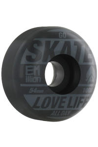 EMillion Go Skate 54mm Wheel 4er Pack  (grey black)