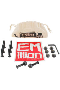 EMillion Bolt Ya Nuts 7/8&quot; Inbus Montageset inkl. Beutel  (black)