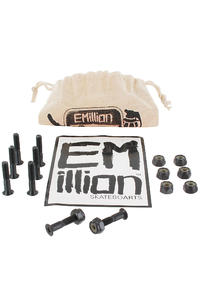 EMillion Bolt Ya Nuts 1&quot; Kreuz Montageset inkl. Beutel  (black)