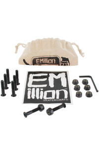 EMillion Bolt Ya Nuts 1&quot; Inbus Montageset inkl. Beutel  (black)