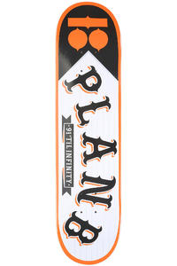 Plan B Team Pennant 7.75&quot; Deck (black white orange)