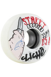 Cliché Street Softies 55mm Wheel 4er Pack  (white)