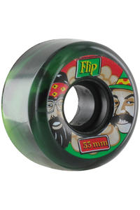 Flip Cheech & Chong Rasta Swirl 55mm Wheel 4er Pack  (green black)