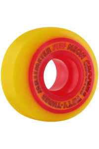 Flip Neon Grooves 53mm Wheel 4er Pack  (yellow red)