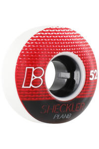 Plan B Sheckler Elite 52mm Rollen 4er Pack  (white red)