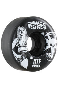 Bones ATF-Bikinigirl 56mm Rollen 4er Pack  (black)