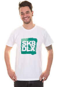 SK8DLX Spring Logo Block T-Shirt (white green)