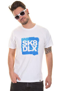SK8DLX Spring Logo Block T-Shirt (white blue)