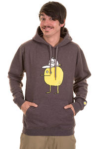 Cleptomanicx Zitrone Hoodie (heather dark brown)