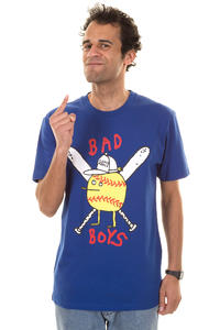Cleptomanicx Bad Boys Zitrone T-Shirt (mazarine blue)