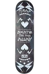 Trap Skateboards Pain Away 8&quot; Deck (black white)