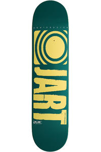 "Jart Skateboards Logo Basic SP13 7.625"" Deck (turquoise yellow)"