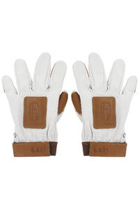 Olson&Hekmati Leather Handschützer (white brown)
