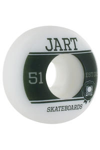 Jart Skateboards Campus Logo 51mm Wheel 4er Pack  (white green)