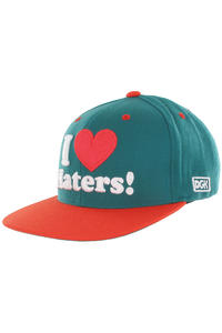 DGK Skateboards Haters Snapback Cap (teal orange)