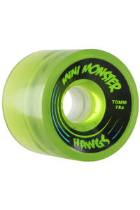 Landyachtz Hawgs Mini Monster 70mm 78a Wheel 4er Pack  (clear green)