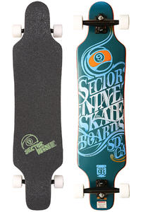 Sector 9 Mini Shaka SP13 40.5&quot; (102,9cm) Complete-Longboard (blue)