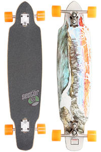 Sector 9 Northern Lights 39&quot; (99cm) Complete-Longboard (red)