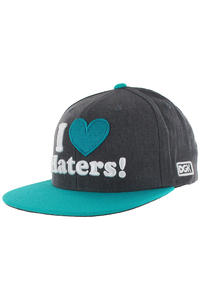 DGK Skateboards Haters Snapback Cap (charcoal heather teal)
