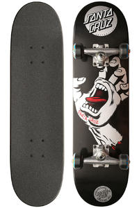 "Santa Cruz Screaming Hand Mini 7.4"" Complete-Board (black silver)"