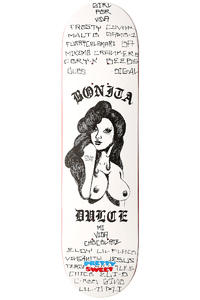 "Girl Art Dump Anthony 8.125"" Deck (white black)"