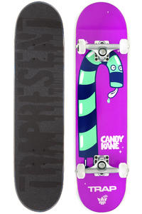 "Trap Skateboards Candy Kane 7.625"" Complete-Board (purple)"