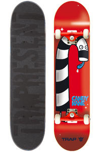 "Trap Skateboards Candy Kane 7.5"" Complete-Board (red)"