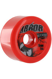 Arbor Durometer 70mm 78A Rollen 4er Pack  (red)